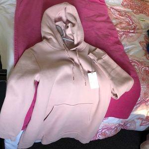 Smoked pink hoodie